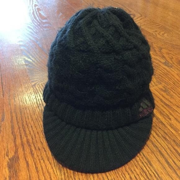 adidas Accessories - Black Women s Adidas Winter Hat with Visor 2b1fcb2eb6